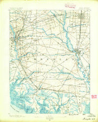 Bridgeton New Jersey Historical topographic map, 1:62500 scale, 15 X 15 Minute, Year 1890