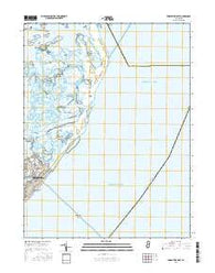 Brigantine Inlet New Jersey Current topographic map, 1:24000 scale, 7.5 X 7.5 Minute, Year 2016