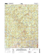Brookville New Jersey Current topographic map, 1:24000 scale, 7.5 X 7.5 Minute, Year 2016 from New Jersey Map Store