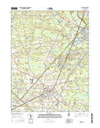 Buena New Jersey Current topographic map, 1:24000 scale, 7.5 X 7.5 Minute, Year 2016 from New Jersey Map Store