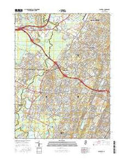 Caldwell New Jersey Current topographic map, 1:24000 scale, 7.5 X 7.5 Minute, Year 2016 from New Jersey Maps Store