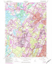 Caldwell New Jersey Historical topographic map, 1:24000 scale, 7.5 X 7.5 Minute, Year 1954