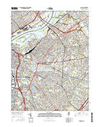 Camden New Jersey Current topographic map, 1:24000 scale, 7.5 X 7.5 Minute, Year 2016 from New Jersey Map Store