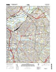 Camden New Jersey Current topographic map, 1:24000 scale, 7.5 X 7.5 Minute, Year 2016