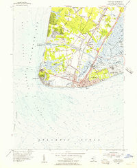 Cape May New Jersey Historical topographic map, 1:24000 scale, 7.5 X 7.5 Minute, Year 1954