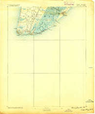 Cape May New Jersey Historical topographic map, 1:62500 scale, 15 X 15 Minute, Year 1888