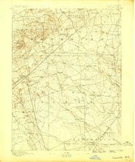 Cassville New Jersey Historical topographic map, 1:62500 scale, 15 X 15 Minute, Year 1888