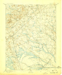 Cassville New Jersey Historical topographic map, 1:62500 scale, 15 X 15 Minute, Year 1894