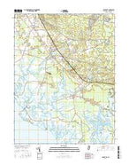 Cedarville New Jersey Current topographic map, 1:24000 scale, 7.5 X 7.5 Minute, Year 2016 from New Jersey Map Store