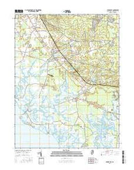 Cedarville New Jersey Current topographic map, 1:24000 scale, 7.5 X 7.5 Minute, Year 2016