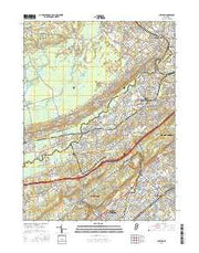 Chatham New Jersey Current topographic map, 1:24000 scale, 7.5 X 7.5 Minute, Year 2016 from New Jersey Maps Store