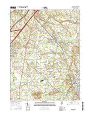 Columbus New Jersey Current topographic map, 1:24000 scale, 7.5 X 7.5 Minute, Year 2016 from New Jersey Maps Store