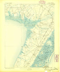 Dennisville New Jersey Historical topographic map, 1:62500 scale, 15 X 15 Minute, Year 1888