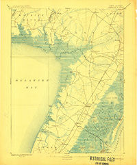 Dennisville New Jersey Historical topographic map, 1:62500 scale, 15 X 15 Minute, Year 1894
