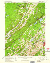 Dingmans Ferry Pennsylvania Historical topographic map, 1:62500 scale, 15 X 15 Minute, Year 1954