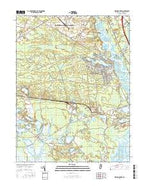 Dividing Creek New Jersey Current topographic map, 1:24000 scale, 7.5 X 7.5 Minute, Year 2016 from New Jersey Map Store