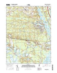 Dividing Creek New Jersey Current topographic map, 1:24000 scale, 7.5 X 7.5 Minute, Year 2016
