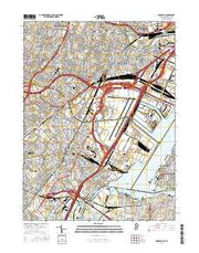 Elizabeth New Jersey Current topographic map, 1:24000 scale, 7.5 X 7.5 Minute, Year 2016 from New Jersey Maps Store