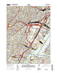 Elizabeth New Jersey Current topographic map, 1:24000 scale, 7.5 X 7.5 Minute, Year 2016