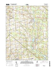 Elmer New Jersey Current topographic map, 1:24000 scale, 7.5 X 7.5 Minute, Year 2016 from New Jersey Maps Store
