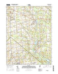Elmer New Jersey Current topographic map, 1:24000 scale, 7.5 X 7.5 Minute, Year 2016
