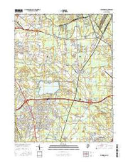 Farmingdale New Jersey Current topographic map, 1:24000 scale, 7.5 X 7.5 Minute, Year 2016 from New Jersey Maps Store