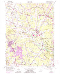 Farmingdale New Jersey Historical topographic map, 1:24000 scale, 7.5 X 7.5 Minute, Year 1954
