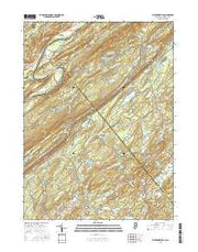 Flatbrookville New Jersey Current topographic map, 1:24000 scale, 7.5 X 7.5 Minute, Year 2016 from New Jersey Maps Store