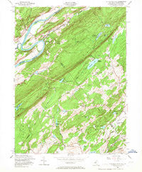 Flatbrookville New Jersey Historical topographic map, 1:24000 scale, 7.5 X 7.5 Minute, Year 1954