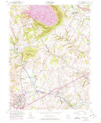 Flemington New Jersey Historical topographic map, 1:24000 scale, 7.5 X 7.5 Minute, Year 1954
