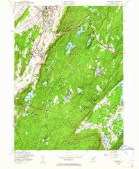 Franklin New Jersey Historical topographic map, 1:24000 scale, 7.5 X 7.5 Minute, Year 1954