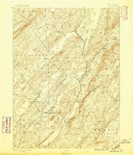 Franklin New Jersey Historical topographic map, 1:62500 scale, 15 X 15 Minute, Year 1888