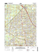 Freehold New Jersey Current topographic map, 1:24000 scale, 7.5 X 7.5 Minute, Year 2016 from New Jersey Map Store
