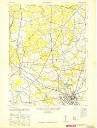 Freehold New Jersey Historical topographic map, 1:24000 scale, 7.5 X 7.5 Minute, Year 1947