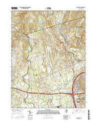 Gladstone New Jersey Current topographic map, 1:24000 scale, 7.5 X 7.5 Minute, Year 2016