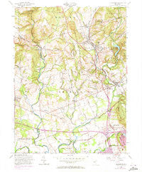 Gladstone New Jersey Historical topographic map, 1:24000 scale, 7.5 X 7.5 Minute, Year 1954