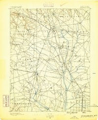 Glassboro New Jersey Historical topographic map, 1:62500 scale, 15 X 15 Minute, Year 1890