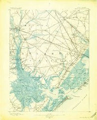 Great Egg Harbor New Jersey Historical topographic map, 1:62500 scale, 15 X 15 Minute, Year 1890