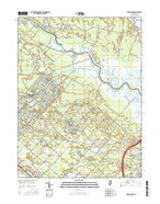 Green Bank New Jersey Current topographic map, 1:24000 scale, 7.5 X 7.5 Minute, Year 2016 from New Jersey Map Store