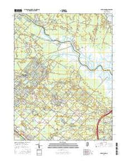 Green Bank New Jersey Current topographic map, 1:24000 scale, 7.5 X 7.5 Minute, Year 2016 from New Jersey Maps Store
