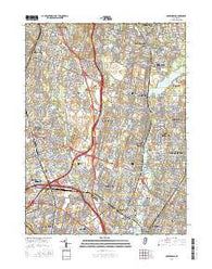 Hackensack New Jersey Current topographic map, 1:24000 scale, 7.5 X 7.5 Minute, Year 2016