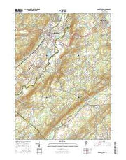 Hackettstown New Jersey Current topographic map, 1:24000 scale, 7.5 X 7.5 Minute, Year 2016 from New Jersey Maps Store