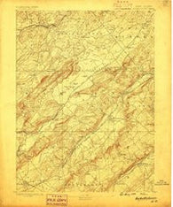 Hackettstown New Jersey Historical topographic map, 1:62500 scale, 15 X 15 Minute, Year 1888