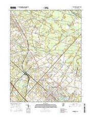 Hammonton New Jersey Current topographic map, 1:24000 scale, 7.5 X 7.5 Minute, Year 2016 from New Jersey Maps Store