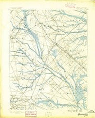 Hammonton New Jersey Historical topographic map, 1:62500 scale, 15 X 15 Minute, Year 1890