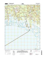 Heislerville New Jersey Current topographic map, 1:24000 scale, 7.5 X 7.5 Minute, Year 2016 from New Jersey Map Store