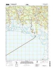 Heislerville New Jersey Current topographic map, 1:24000 scale, 7.5 X 7.5 Minute, Year 2016 from New Jersey Maps Store
