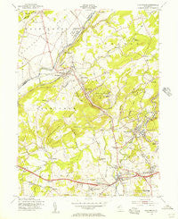 High Bridge New Jersey Historical topographic map, 1:24000 scale, 7.5 X 7.5 Minute, Year 1954