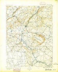 High Bridge New Jersey Historical topographic map, 1:62500 scale, 15 X 15 Minute, Year 1890