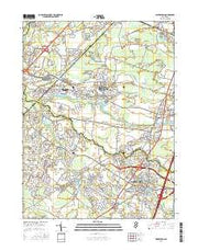 Hightstown New Jersey Current topographic map, 1:24000 scale, 7.5 X 7.5 Minute, Year 2016 from New Jersey Maps Store